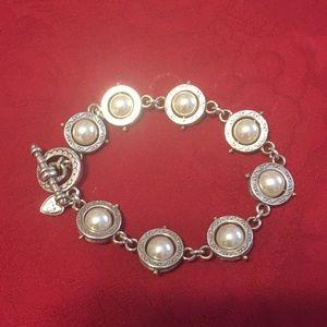 Brighton pearl and silver tone bracelet